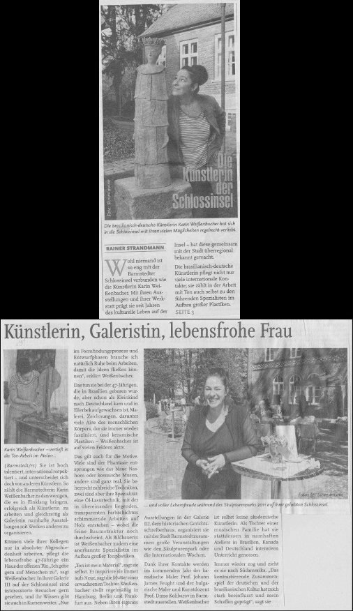 01.12.2012 Die Künstlerin der Schlossinsel Rainer Strandmann, Hollsteiner Allgemeine Zeitung Die Künstlerin der Schlossinsel