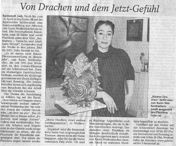 03.03.2008 Von Drachen und dem Jetzt-Gefühl Carsten Wittmaack, Elmshorner Nachrichten Von Drachen und dem Jetzt-Gefühl