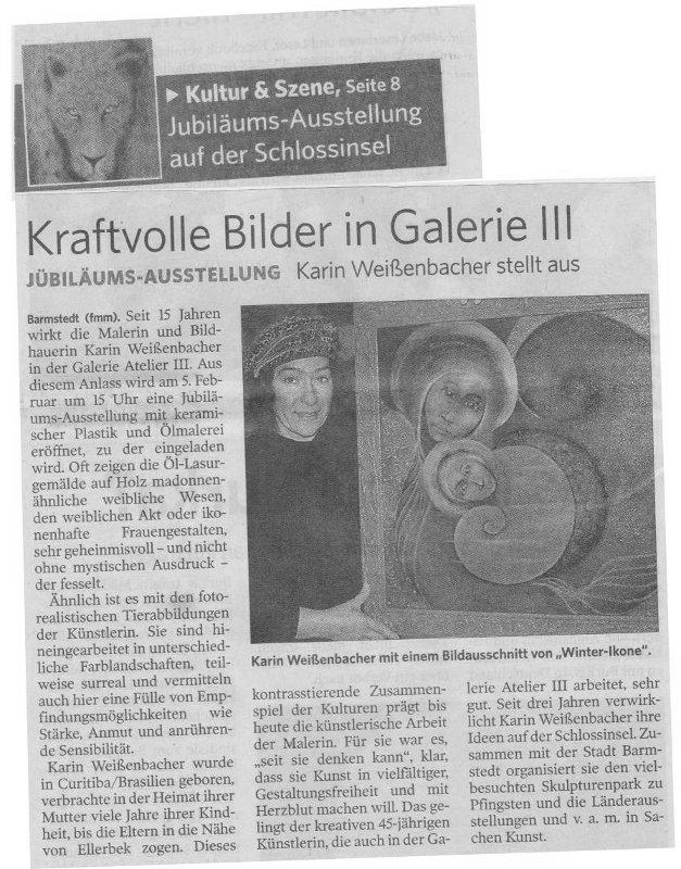 04.02.2011 Kraftvolle Bilder in Galerie III F. Mackeprang-Meyer, Uetersener Nachrichten Kraftvolle Bilder in Galerie III