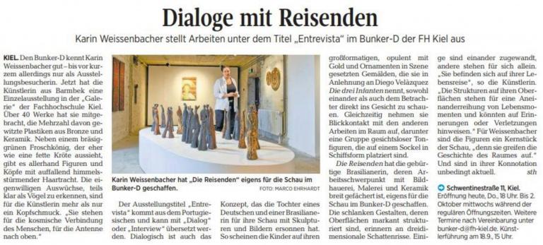 05.09.2019 Dialoge mit Reisenden Sabine Tholund, Kieler Nachrichten Dialoge mit Reisenden