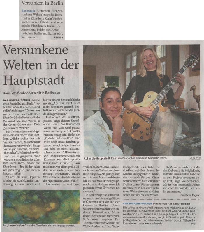 05.11.2009 Versunkene Welten in der Hauptstadt Elisabeth Meyer, Barmstedter Zeitung Versunkene Welten in der Hauptstadt