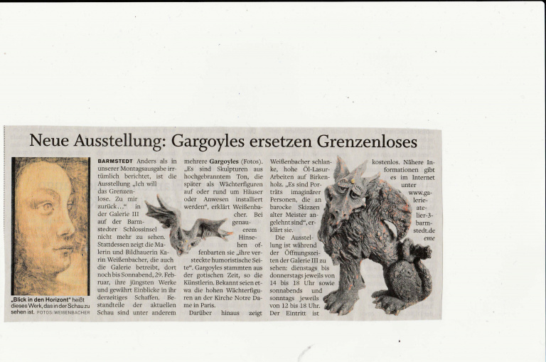 07.02.2020 Gargoyles ersetzen Grenzenloses Elisabeth Meyer, Barmstedter Zeitung Gargoyles ersetzen Grenzenloses