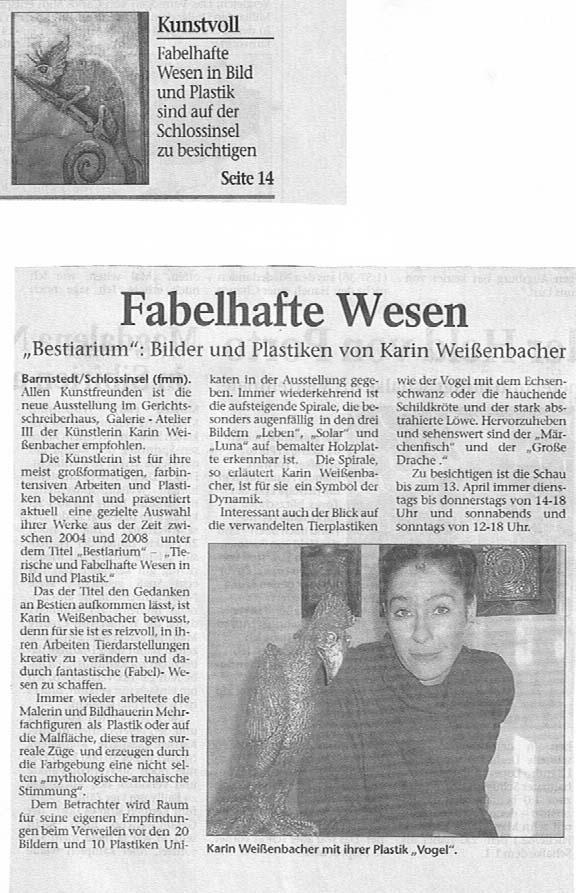 07.03.2008 Fabelhafte Wesen F. Mackeprang-Meyer, Uetersener Nachrichten Fabelhafte Wesen 07.03.2008 Fabelhafte Wesen F. Mackeprang-Meyer, Uetersener Nachrichten Fabelhafte Wesen