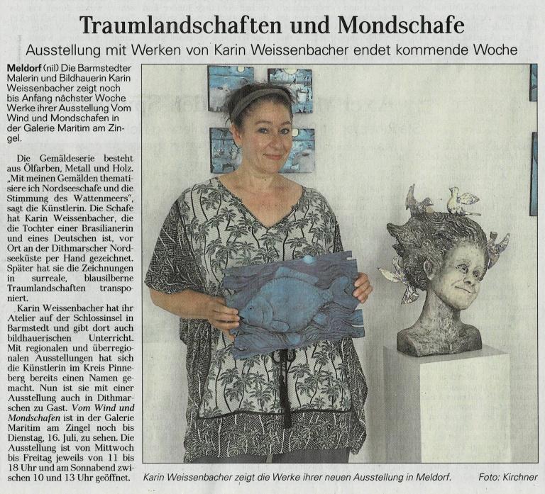 09.07.2019 Traumlandschaften und Mondschafe B. Kirchner, Dithmarscher Landeszeitung Traumlandschaften und Mondschafe