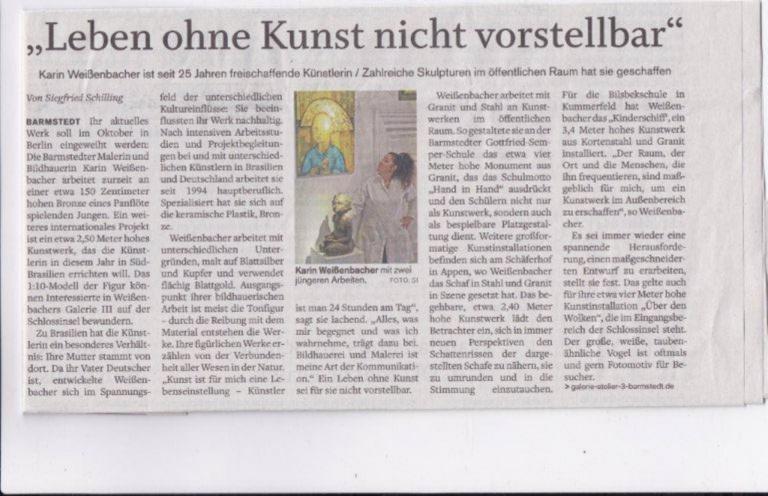 11.02.2019 Leben ohne Kunst ist nicht vorstellbar Siegfried Schilling, Barmstedter Zeitung, Elmshorner Nachrichten Leben ohne Kunst ist nicht vorstellbar