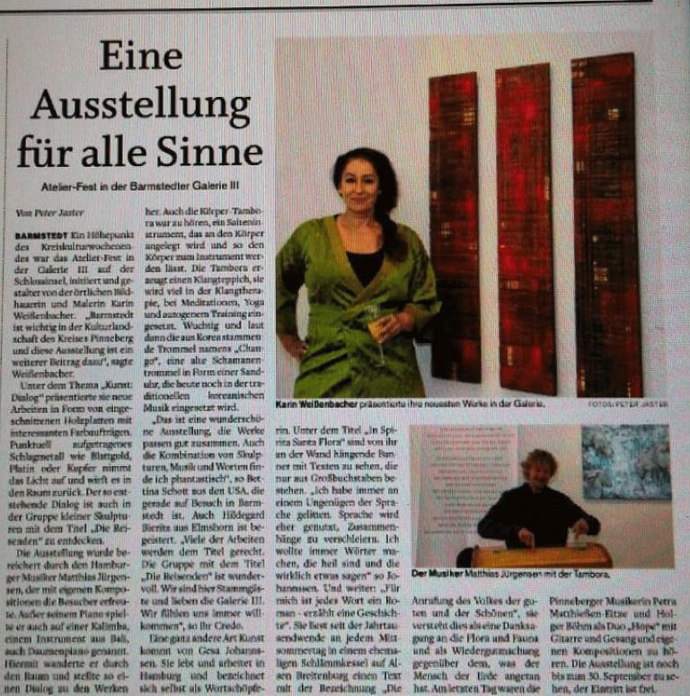 18.09.2018 Eine Ausstellung für alle Sinne F. Jaster, Barmstedter Zeitung, Elmshorner Nachrichten Eine Ausstellung für alle Sinne