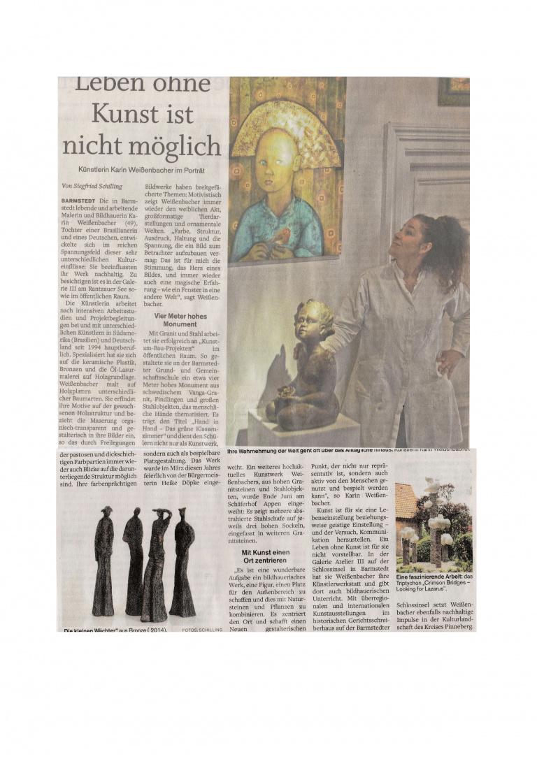 21.06.2018 Leben ohne Kunst ist nicht möglich Siegfried Schilling, Barmstedter Zeitung Leben ohne Kunst ist nicht möglich