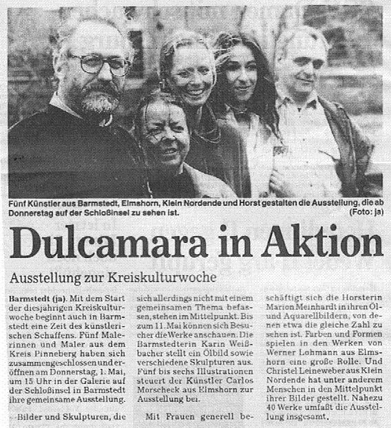 29.04.1997 Dulcamara in Aktion Peter Krohn, Barmstedter Zeitung Dulcamara in Aktion