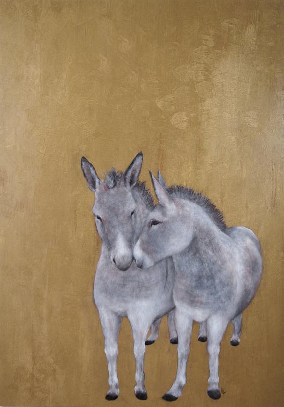 Gold-Esel
