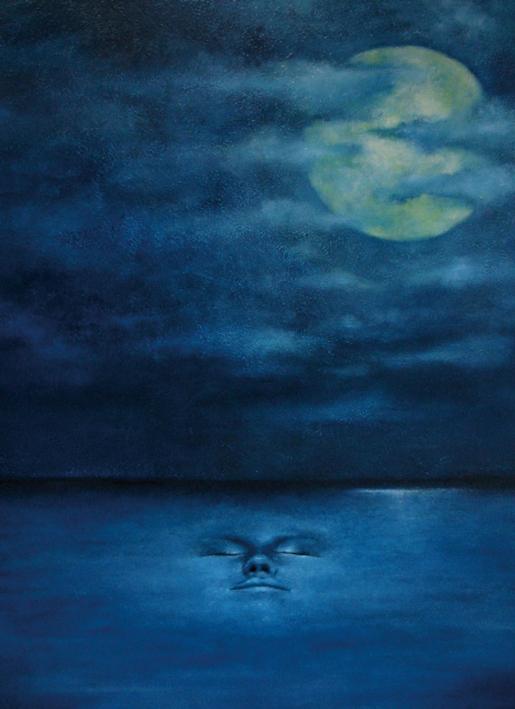 Mond im Wasser