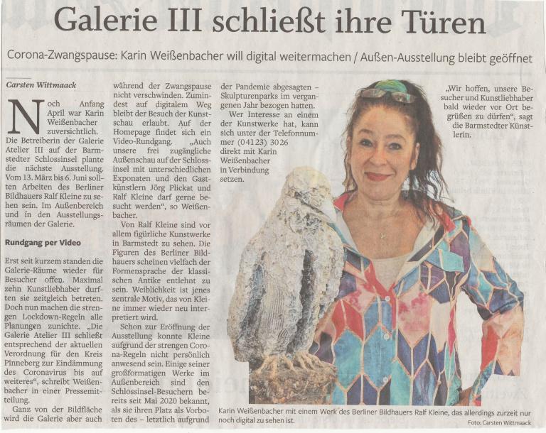 C. Wittmaack Barmstedter zeitung 8.4.21 Die Galerie III